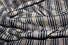 Ткань трикотаж мягкий, зимний не окрашенный полностью плетенный нитями. полоса горчица пог. м. № 503