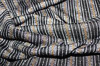 Ткань трикотаж мягкий, зимний не окрашенный полностью плетенный нитями. полоса горчица пог. м. № 503, фото 1