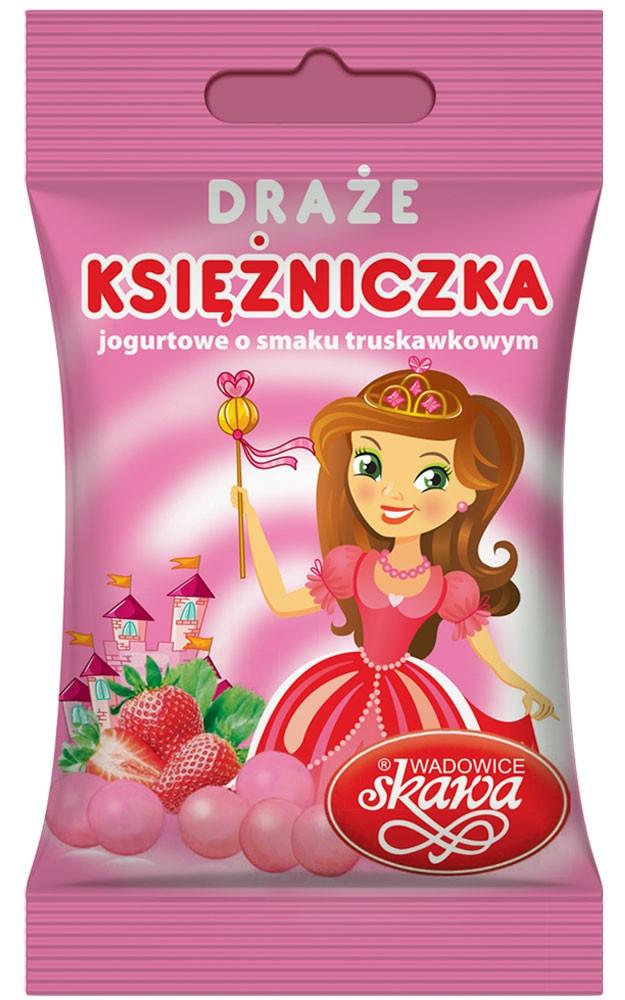 Драже Skawa Strawberry Yogurt Dragees со вкусом клубничного йогурта 70 гр. Польша