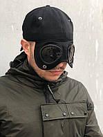 Кепка мужская C.P. Company черного цвета с защитными очками