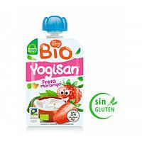 Йогурт органический Mi Menu YogiSan Кисломолочное молоко и Клубника