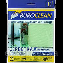 Серветка мікрофібра для скла Buroclean EuroStandart