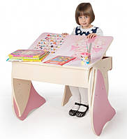 Детская Парта + стул Умничка (розовый), фото 1