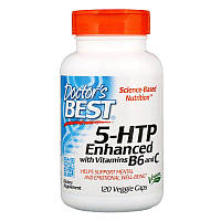 "5-гидрокситриптофан Doctor's Best ""5-HTP"" усиленный витаминами B6 и C (120 капсул)"