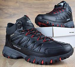 Зимние ботинки The North Face Ultra 110 черные кожа 41-46рр. Живое фото. Реплика