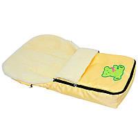 Конверт для детей на овчине желтый (10192)
