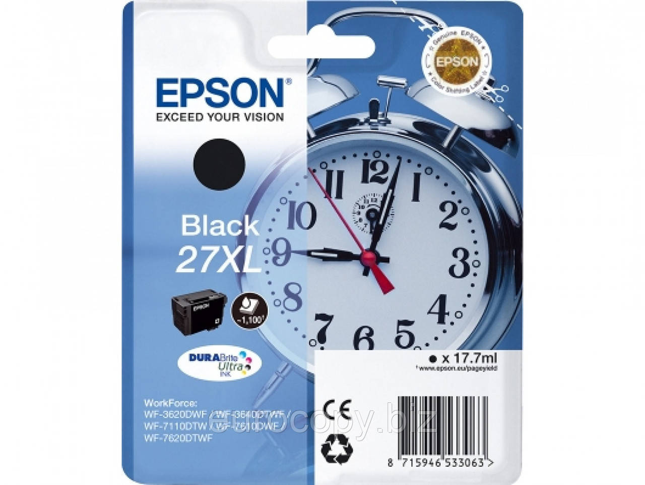 Чорнила Epson для WF7110 XL Black (C13T27114022)