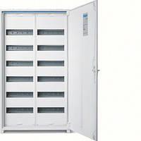 Щит Hager 950x550x161 наружный 144 модуля 6 рядов белые двери IP44 Univers FWB62S