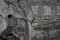 Ткань трикотаж мягкий, зимний не окрашенный полностью плетенный нитями. клетка горчица пог. м. № 508, фото 1