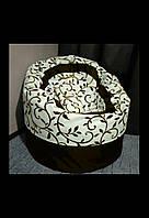 Крісло мішок Пуф орнамент шоколад