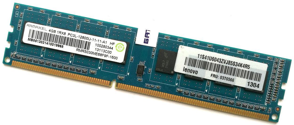 Оперативная память Ramaxel DDR3L 4Gb 1600MHz PC3L-12800 1R8 CL11 (RMR5030ME68F9F-1600) Б/У