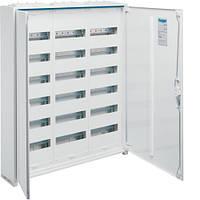 Щит Hager 950x800x161 наружный 216 модулей 6 рядов белые двери IP44 Univers FWB63S