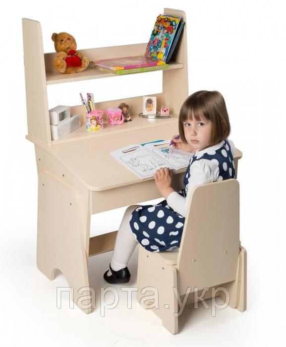 """Растущие Парта и стул """"От 3 до 15"""" + надстройка, 70 см"""