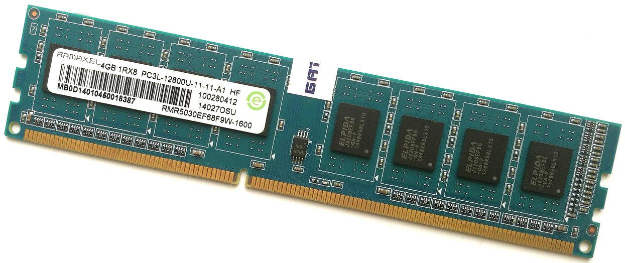 Оперативная память Ramaxel DDR3L 4Gb 1600MHz PC3L-12800 CL11 (RMR5030EF68F9W-1600) Б/У