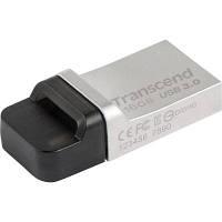 USB флеш накопитель Transcend 16GB JetFlash OTG 880 Metal Silver USB 3.0 (TS16GJF880S), фото 1