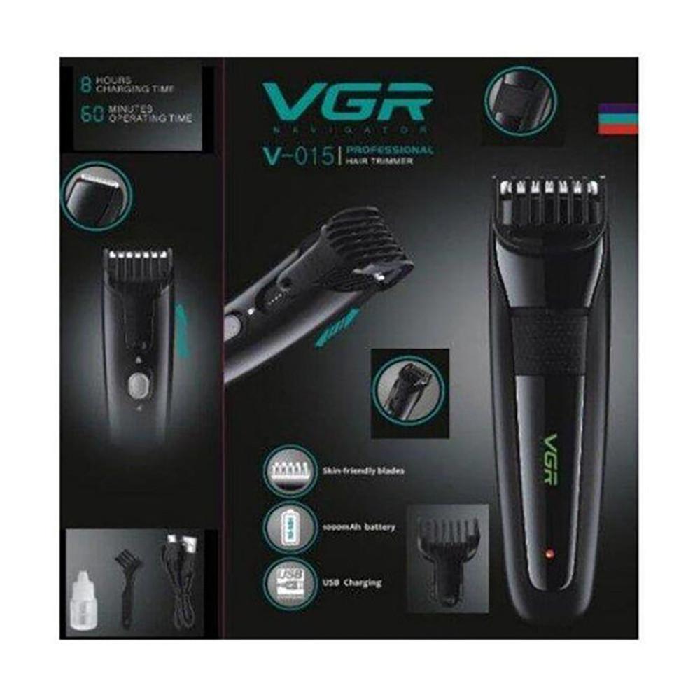 Машинка для стрижки VGR V-015 USB  + ПОДАРОК: Настенный Фонарик с регулятором BL-8772A