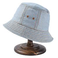 Джинсовая летняя светлая голубая панамка опт, фото 1