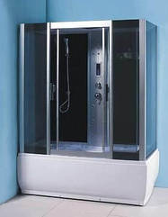 Гидробокс без пара, с электроникой, ванной без гидромассажа 1700*900*2200 мм,  стекло GREY