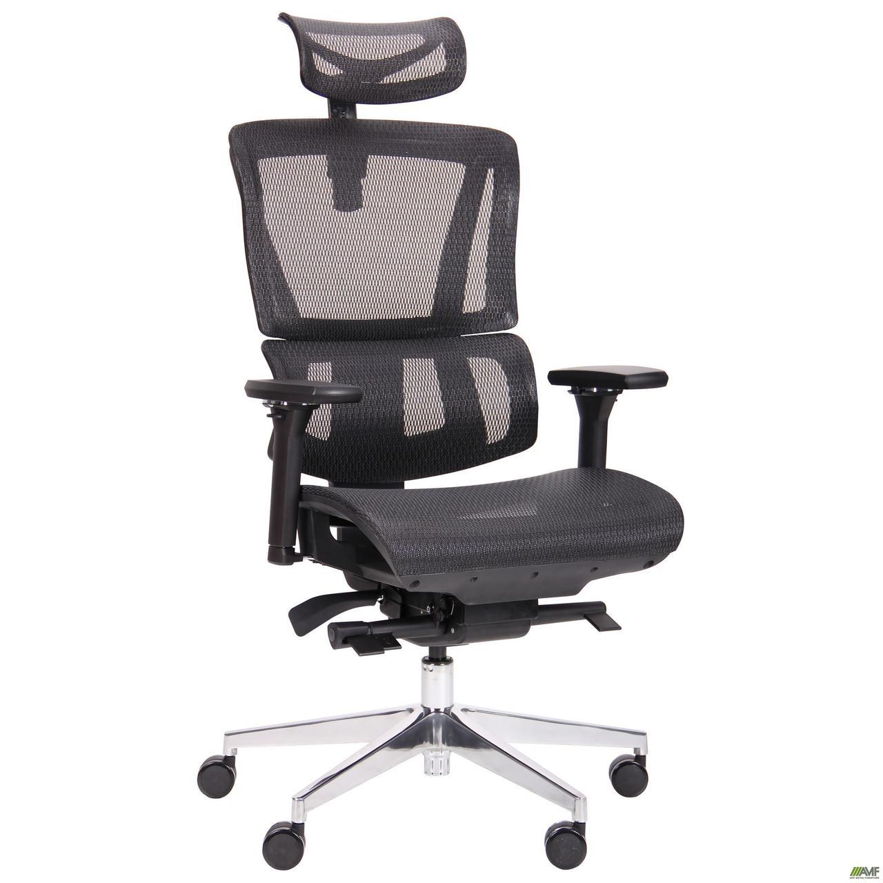 Компьютерное кресло АМФ Agile, с подголовником, анатомическое