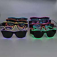 Очки неоновые Flashing Nigt Glasses Transparent