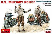 Американская военная полиция на мотоциклах. Сборная модель. 1/35 MINIART 35085