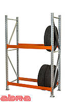 Стеллаж для шин для склада/магазина/гаража SN-Ш-1 2000х1535х500, оцинкованный, 2 яруса, до 350 кг/ярус