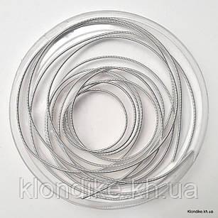 Канитель жесткая, 1.2 мм, Цвет: Серебро (5 грамм)