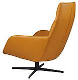 Поворотное кресло лаунж с пуфом BERKELEY (Беркли) светло коричневое кожзам Concepto (бесплатная доставка), фото 6