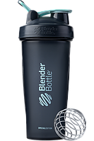 🔥✅ Спортивный шейкер BlenderBottle Classic Loop 820ml Special Edition Glacier Black / Agua (ORIGINAL)