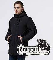 Braggart Black Diamond 9042 | Зимняя мужская куртка черная, фото 1