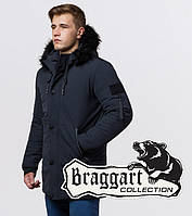 Braggart Black Diamond 9842 | Качественная мужская куртка графит, фото 1