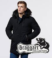 Braggart Black Diamond 9842 | Зимняя куртка для мужчин черная, фото 1