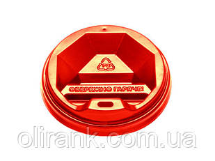 Кришка ТОППЛАСТ КР-80 (червона) 50шт уп 50уп/ящ (під ГОФРА 300ст)