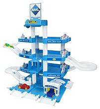 """Іграшка паркінг гараж """"ARAL-2"""" 4-рівневий з автомобілями і ліфтом (46093), Полісся-Wader"""