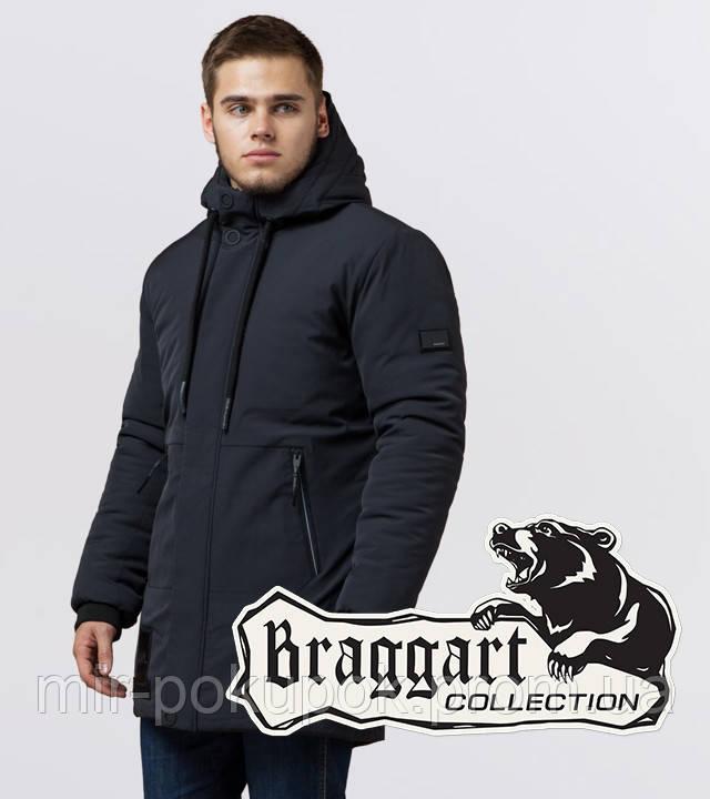 Braggart Black Diamond 9085 | Мужская куртка зима графит, фото 1