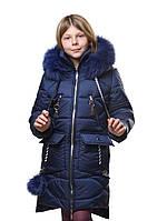 Курточка зимняя для девочки модная с каюшоном