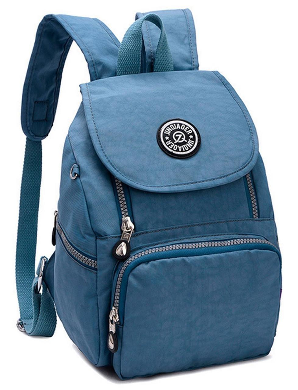 Рюкзак нейлоновый Jinuaer 30х21х10см Серо-голубой (02007/01)