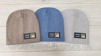 Трикотажная шапка на флисе р48-50
