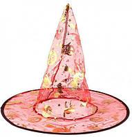 Шляпа ведьмы, колпак ведьмы, цвет красный, аксессуар для образа на хэллоуин