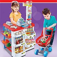 Магазин детский (касса,тележка,звук,свет,продукты)