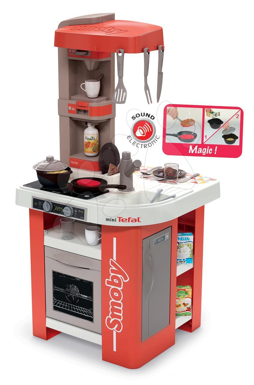 Smoby Mini Tefal Studio Bubble XXL Küche mit Zubehör Rot Spielküchen