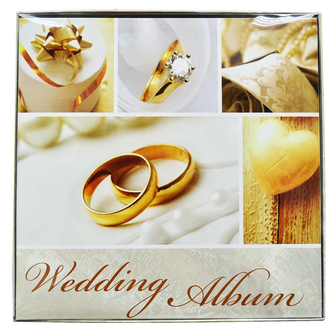 Свадебный фотоальбом на 30 магнитных листов, 34 х 34 см