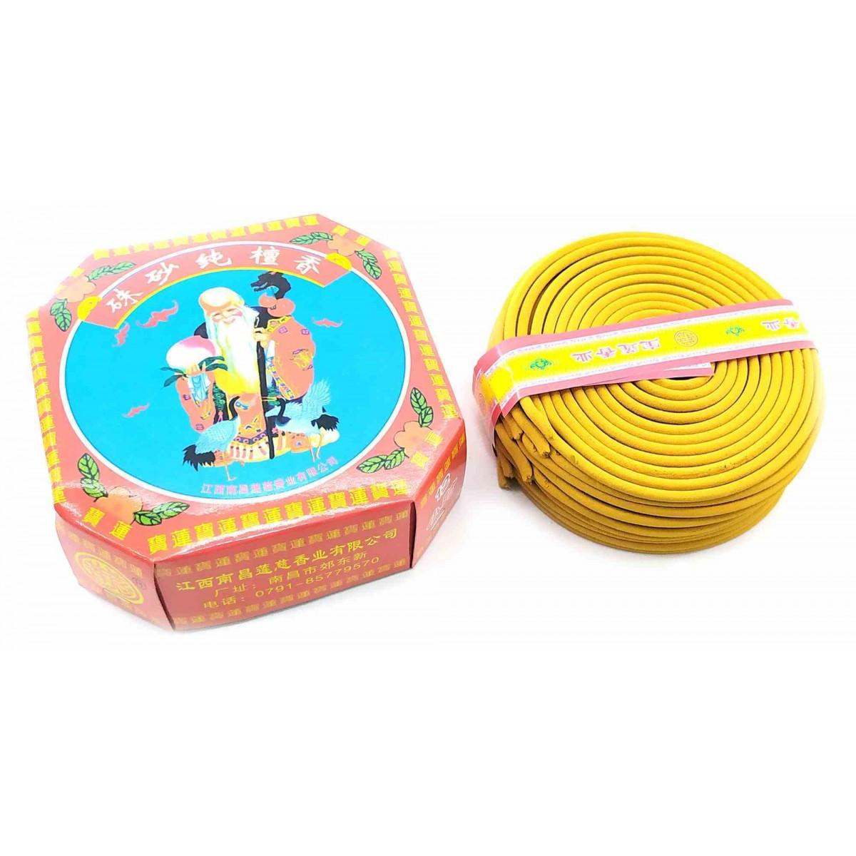 Благовоние спиральное сандаловое (10 спиралей)(d-10 см) ( 32723)