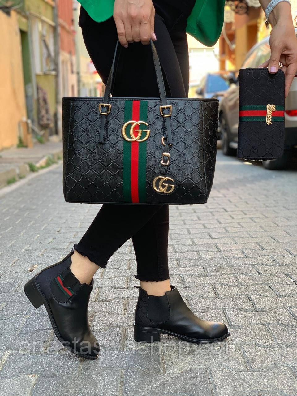 Женские ботинки из эко-кожи