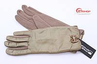 Женские теплые перчатки с бантиком (6 - цветов в наличии)