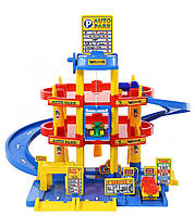 Игрушка паркинг гараж 3-уровневый с автомобилями (с лифтом) (37893), Полесье-Wader