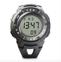 Секундомер наручные часы PC0603 для крикета 3-ех строчный, пластик, 4-ех кноп., будильник.
