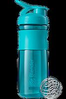 🔥✅ Спортивная бутылка-шейкер BlenderBottle SportMixer 820ml Teal (ORIGINAL)