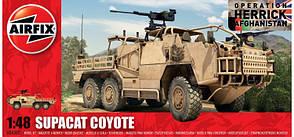 Supacat Coyote Британский артиллерийский тягач 6Х6. Сборная модель 1/48 AIRFIX 06302