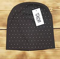 Демисезонная шапка для девочек Аура , цвет: черный